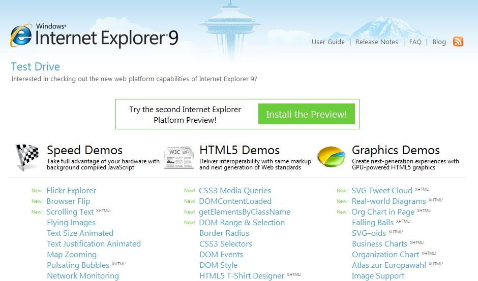 IE 9 明年推出‧將正式支援 HTML 5