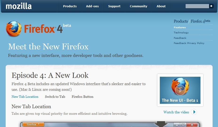 率先試玩 Firefox 4 Beta、新功能一覽