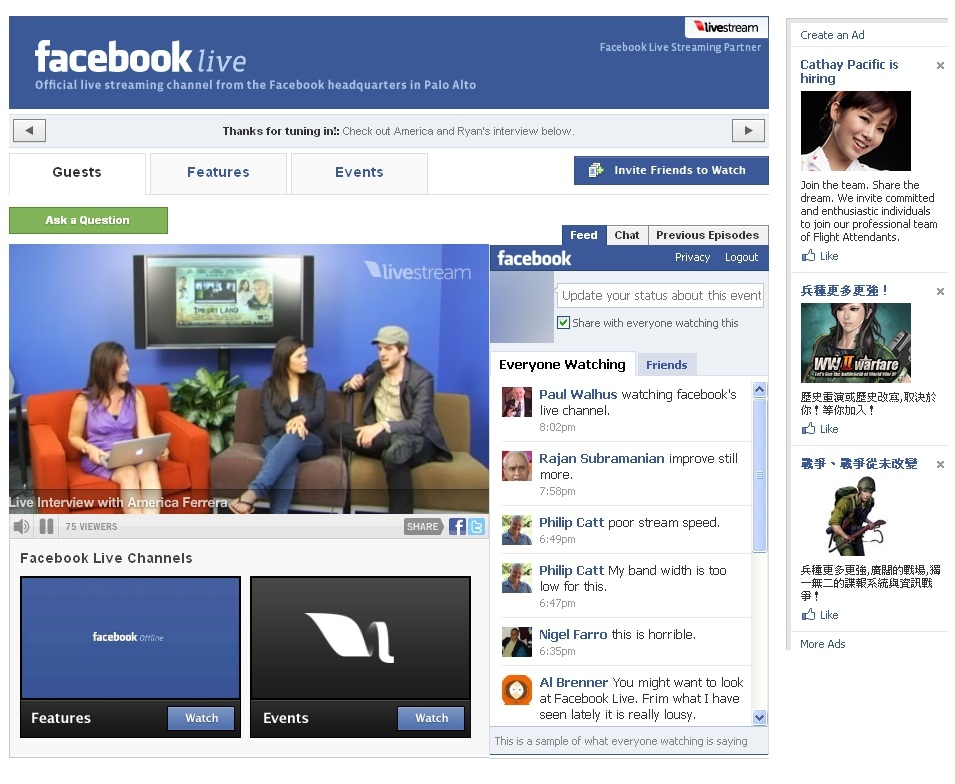 Facebook 發佈全新 Facebook Live