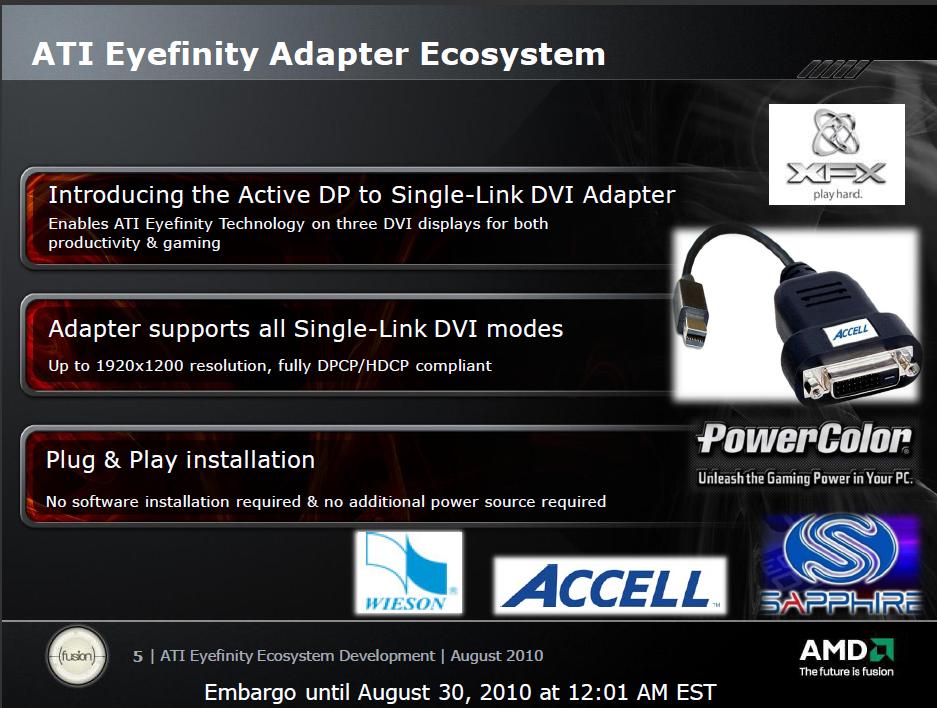 $300 即玩 3 顯示器 AMD Single-Link Adaptec