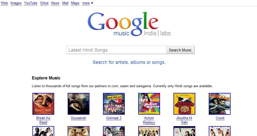 Google 在印度推出免費音樂平台