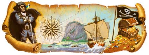 "Google""海盜王""Robert Louis Stevenson(羅伯特·路易斯·史蒂文森) 誕辰160週年"
