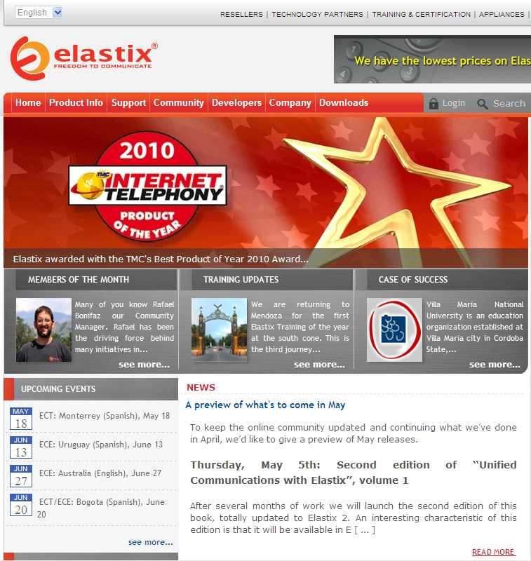 Elastix offical website