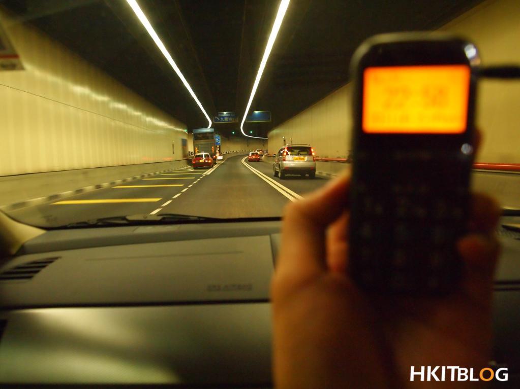 GPS 啟德隧道入面