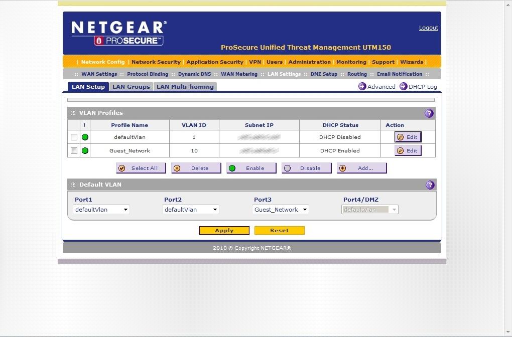 Netgear UTM150 試範