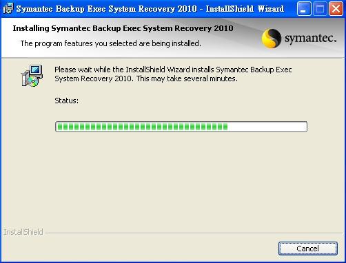 symantec backup exec system recovery 安裝