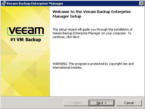 Veeam Backup Enterprise Manager Installation