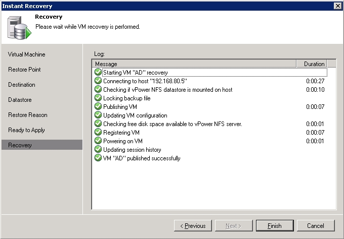 Veeam Backup & Replication Instant Recovery Tutorial