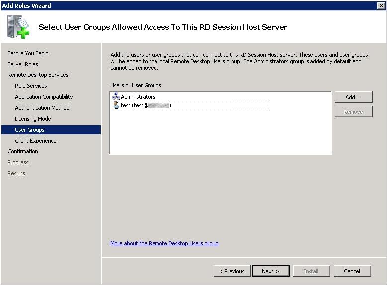 Windows 2008 R2 Terminal Services Installation