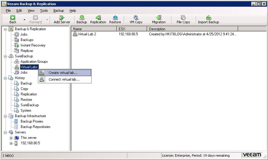 Veeam Backup & Replication Virtual labs Tutorial