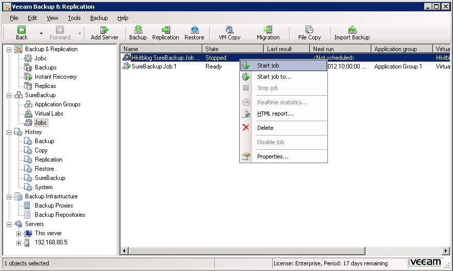 Veeam Backup & Replication SureBackup Job Tutorial