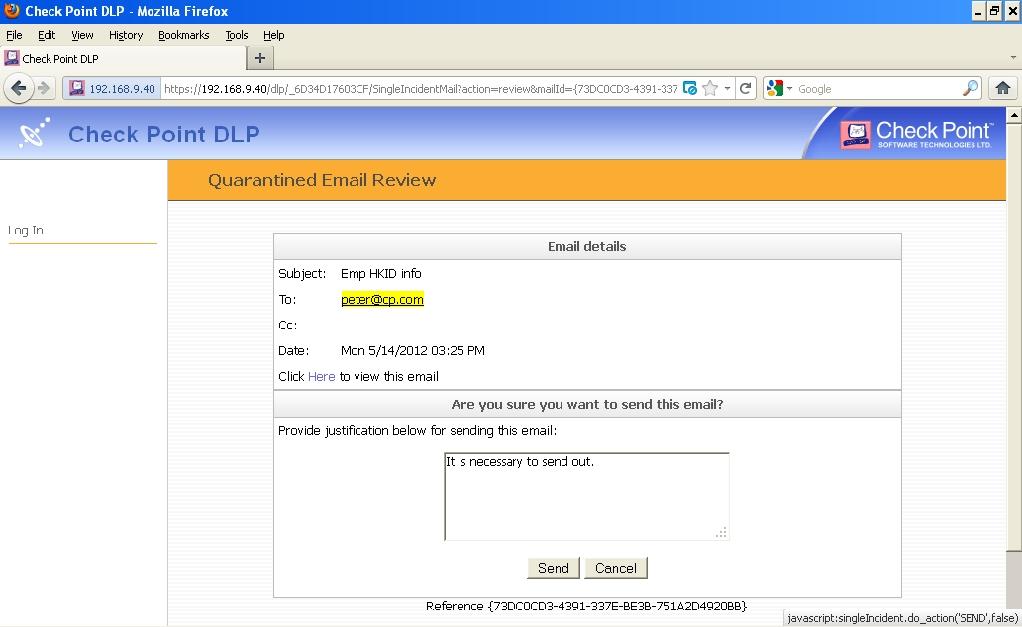 Check Point Appliance 12000 DLP Setup