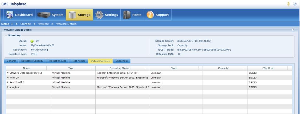 EMC VNXe create VMware NFS datastore