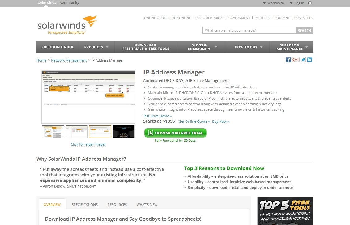 SolarWinds_IP_Address_Manager
