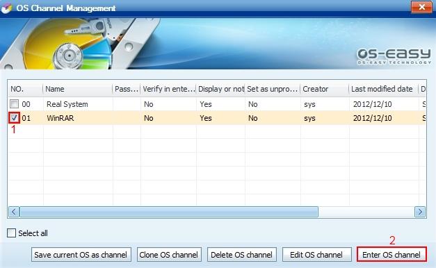 Virtual Channel Setup