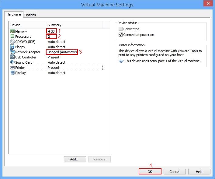 Add vdh harddisk into VMware Workstation