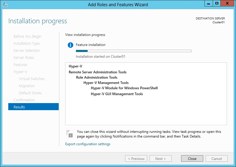 Install Windows 2012 Hyper-V