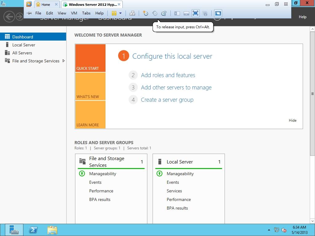 Install Windows 2012 in VMware Workstation