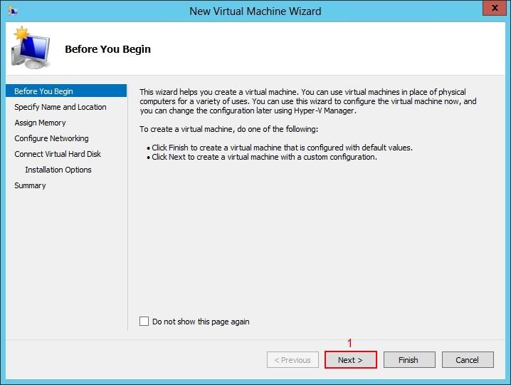 Setup Windows 2012 Hyper-V
