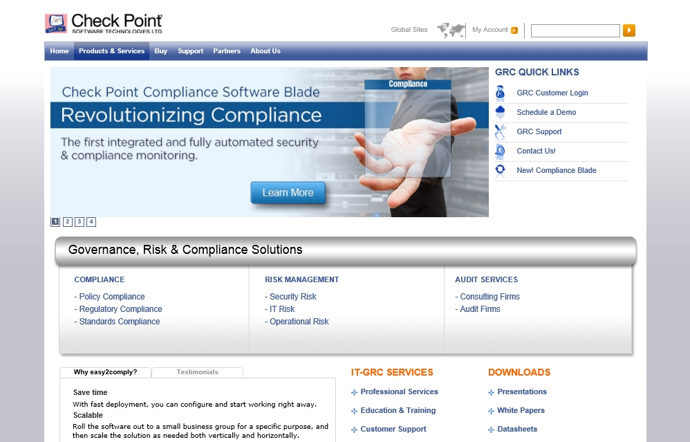 Check Point Compliance Software Blade 銀行簡介