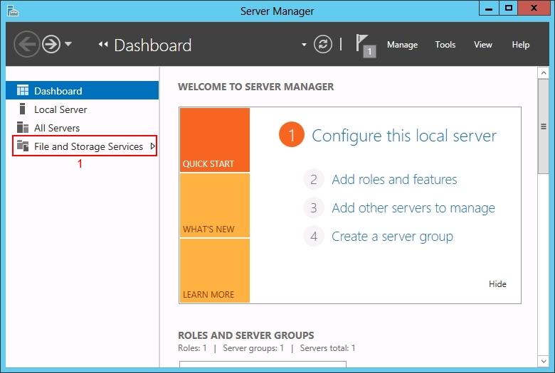 Install Windows 2012 iSCSI Target