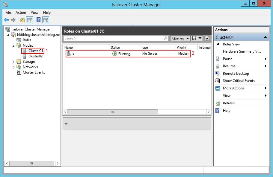 Failover Cluster Manager Testing