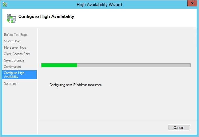 Setup File Storage on Failover Cluster Manager