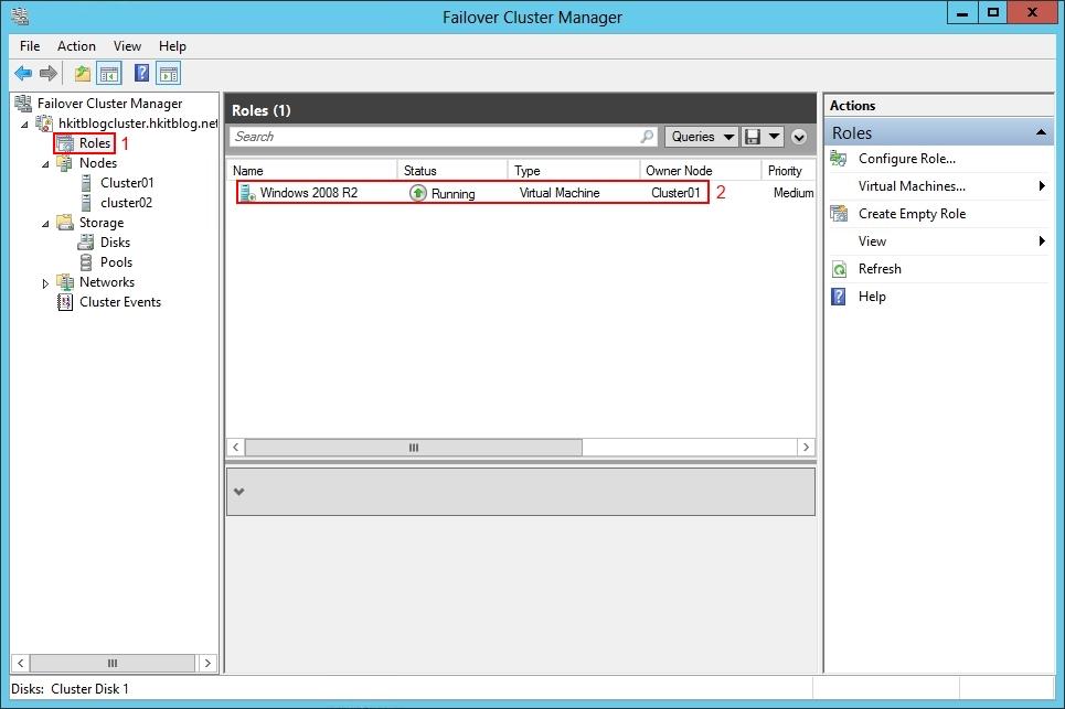 Setup Hyper-V on Failover Cluster Manager
