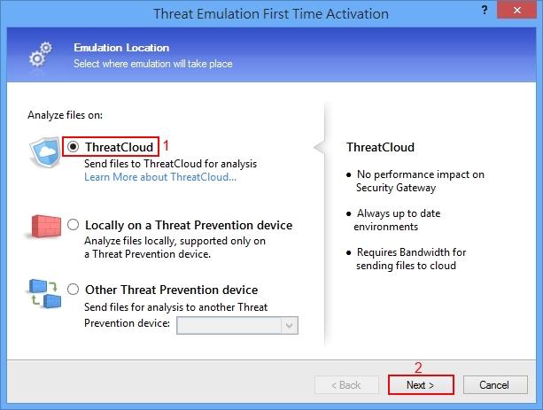 Threat Emulation Software Blade Installation