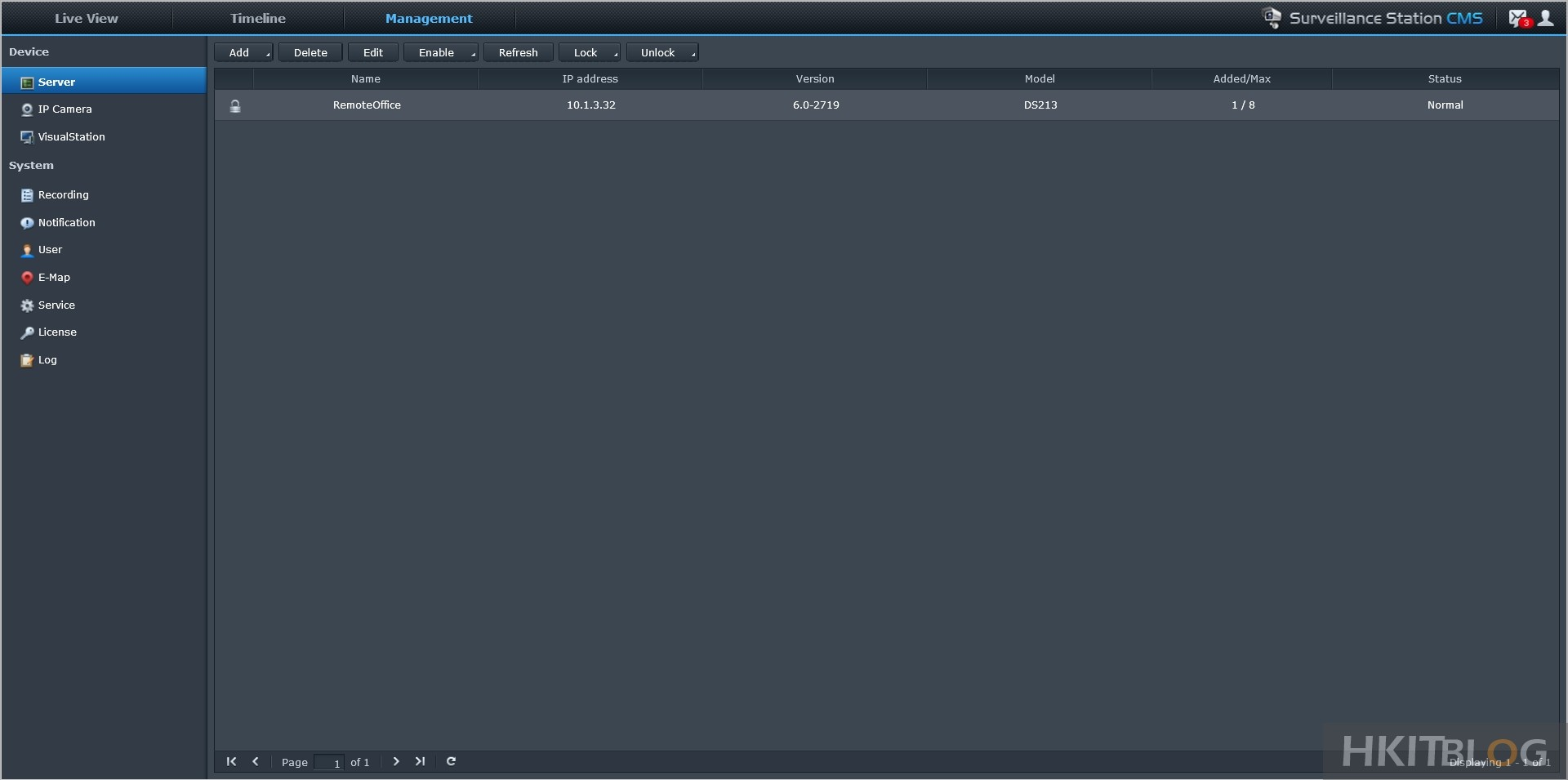 Synology Remote Server