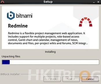bitnami-redmine installation