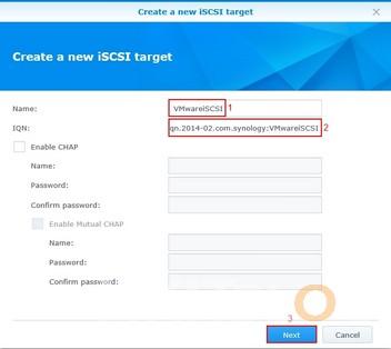 Create iSCSI