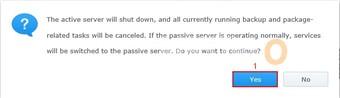 Synology Turn Off HA for VMware HA