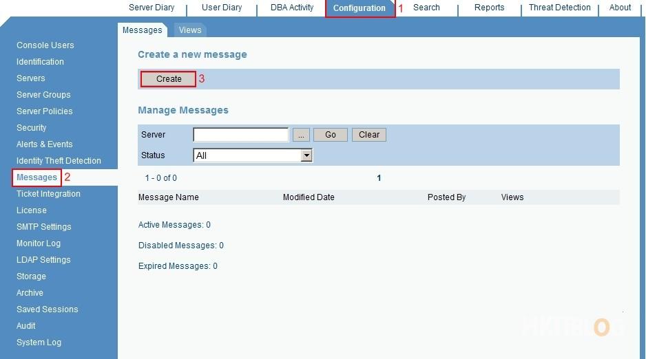 ObserveIT Send Message