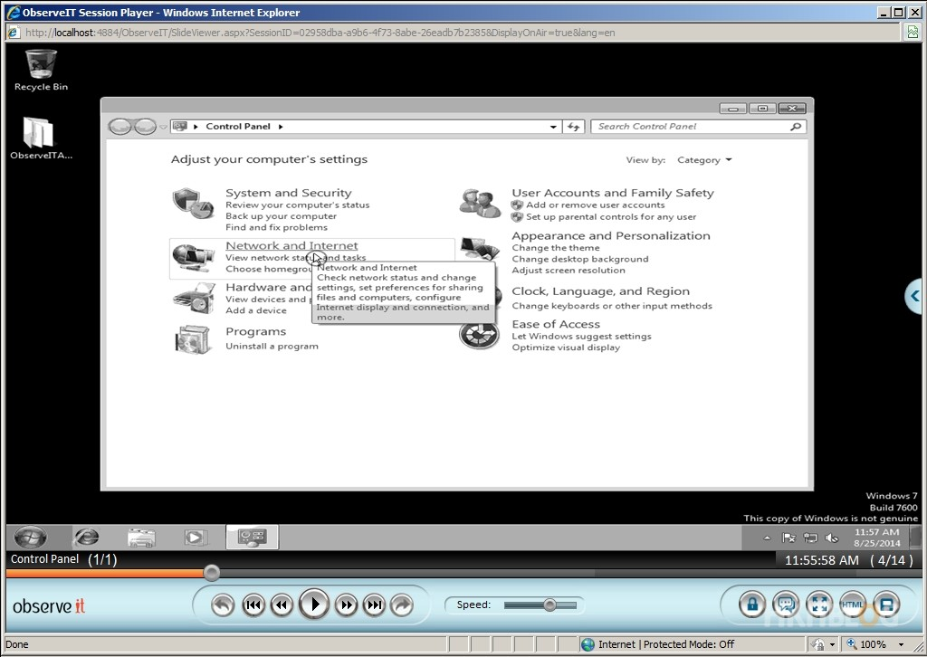ObserveIT Video Record and Search