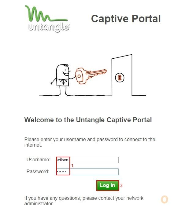 Untangle Captive Portal