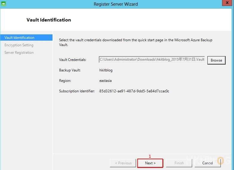 Microsoft Azure Recovery Service - Installation