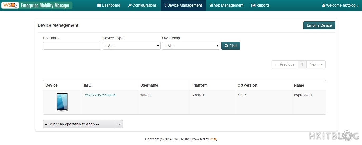 WSO2 Enterprise Mobility Manager Create New Tenant