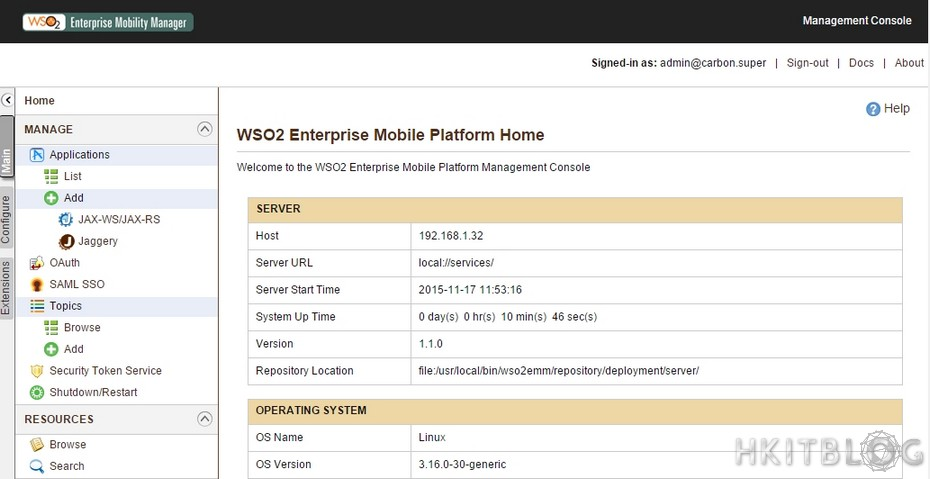WSO2 Enterprise Mobility Manager Installation
