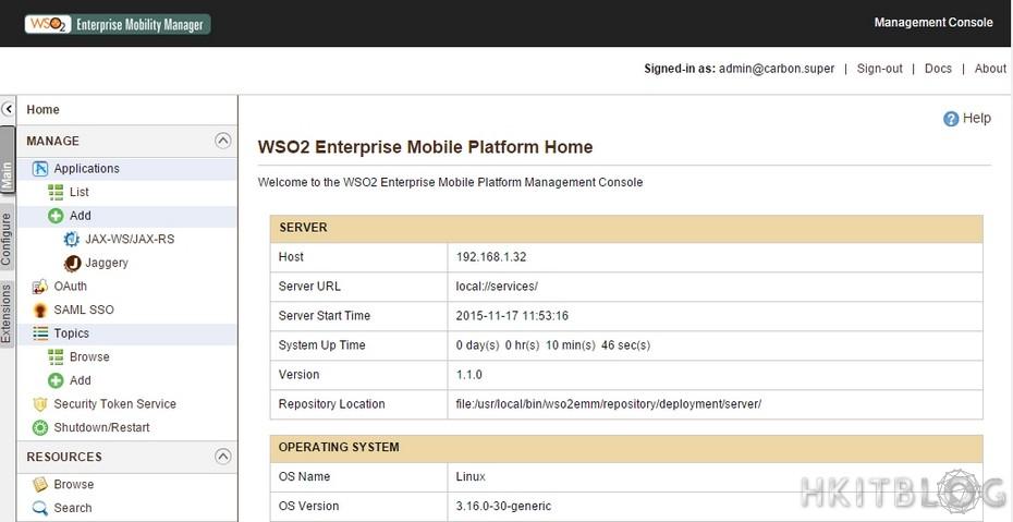 WSO2 Enterprise Mobility Manager Installation