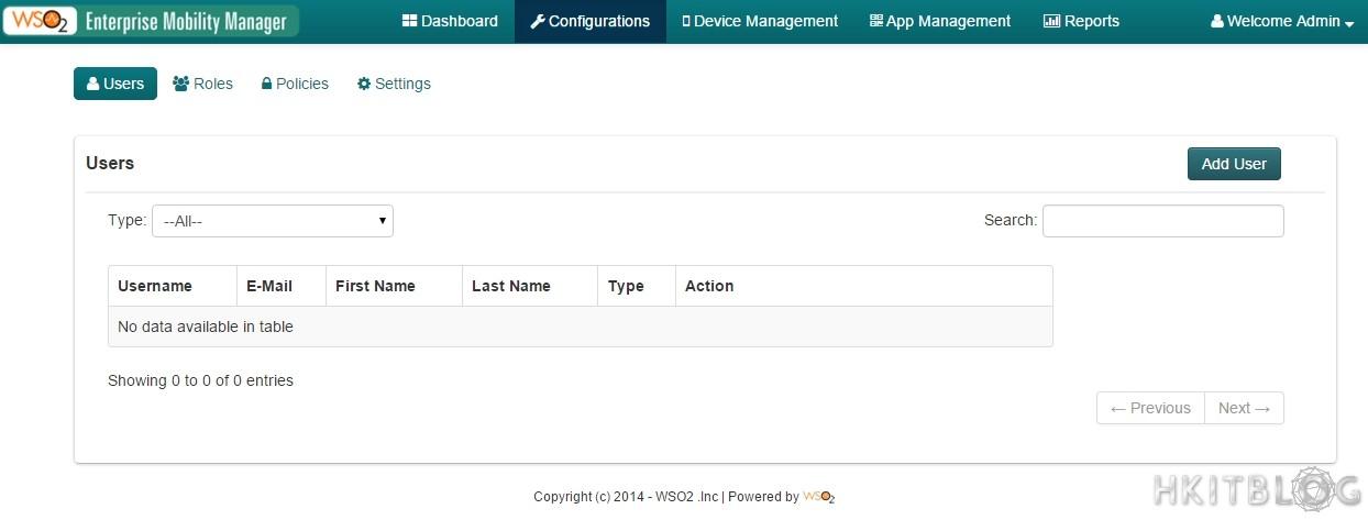 WSO2 Enterprise Mobility Manager Setup EMM