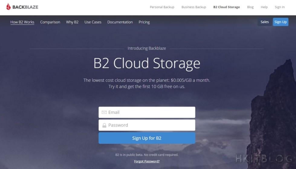 Backblaze B2 Cloud Storage Application