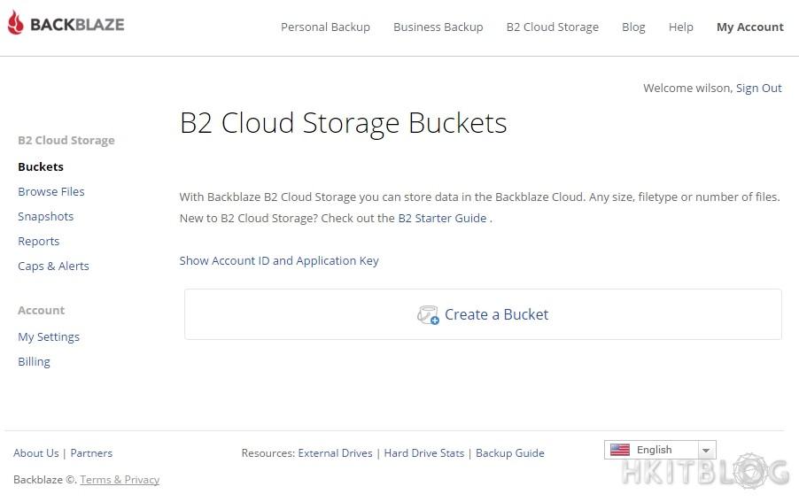 Backblaze B2 Cloud Storage Setup
