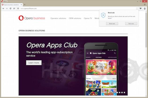 封鎖廣告不需額外插件:Opera 瀏覽器引擎將內置廣告封鎖功能
