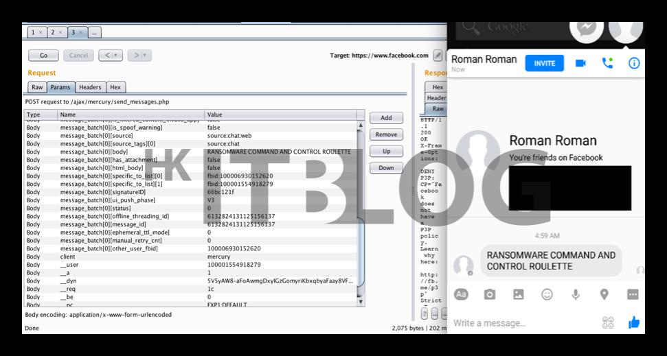 附詳細攻擊示範影片:Facebook 漏洞令聊天記錄可輕易被更改!