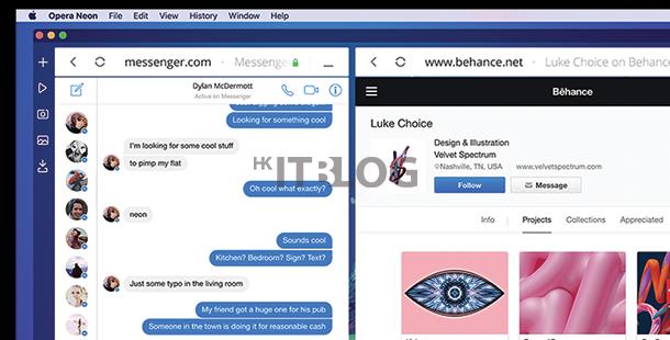 現今瀏覽器已過時:Opera 推未來概念瀏覽器 Neon