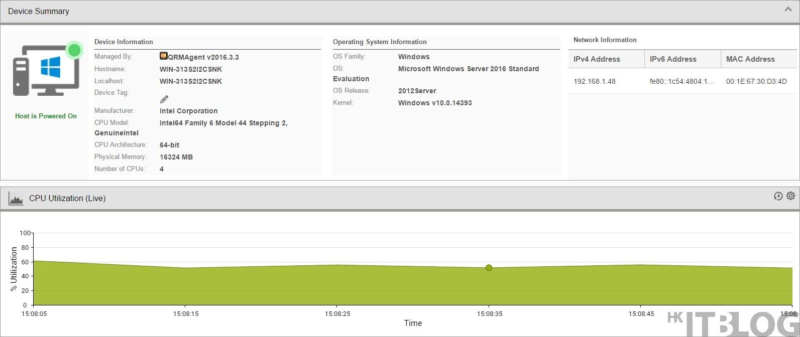 QNAP QRM+ 全新 Agent 方式監測 Windows Server 2016 資源!