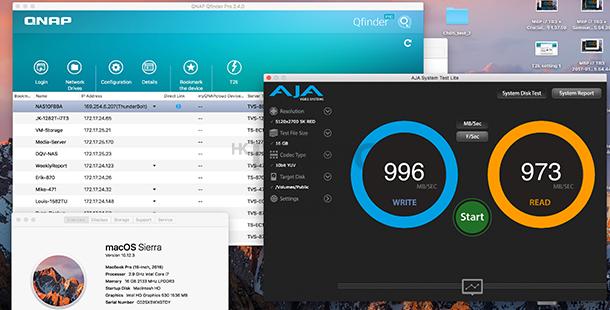 QNAP TVS-882ST2 10GbE 傳輸新技術︰10GbE 網路大檔傳輸實測