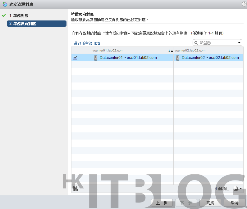 Site Recovery Manager 管理系統:輕鬆建立資源對應!