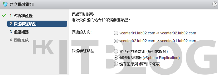 Site Recovery Manager 管理系統:如何建立你的保護群組?